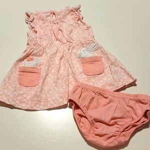 🐇Carter's Floral bunny Dress and bloomer